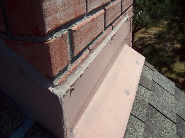 Roof Flashing around chimney